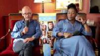Ex: interview (junket) Stéfi Celma, Arnaud Ducret, Maurice Barthélémy and Claudia Tagbo