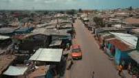 Vue aérienne de Accra, Ghana