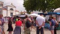 Vue subjective dans le marché de Brétignolles