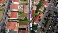 Vue aérienne par drone de Bretignolles