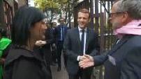 Emmanuel Macron visite les restos du coeur 1/3