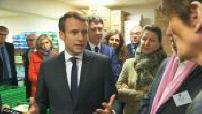 Emmanuel Macron visite les restos du coeur 2/3