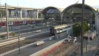 Perturbation du trafic SNCF après l'incendie d'Aubagne : illustrations gare de Nice + bus de substitution