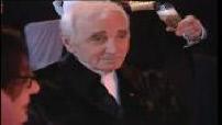 Images de Charles Aznavour honoré au Midem de Cannes 2009