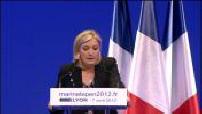 Election campaign Marine Le Pen in Lyon