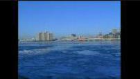Carte postale Detroit en hiver + lac Erié