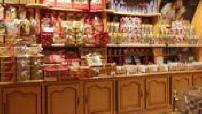 Stalls of a shop La Cure Gourmande