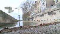 Illustration crue de la Seine et détritus