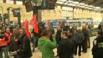 Grève à la SNCF : illustrations de la grève et des blocages en France