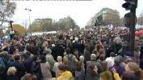 Manifestation anti-mariage pour tous : manifestation à Paris