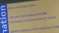 Illustrations de la Gare du Nord lors d'une journée de grève SNCF