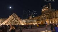 Night Louvre Illustration