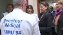 Agnès Buzyn en visite au Samu de Créteil