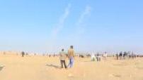 Frontière israélo-palestinienne : face à face entre civils palestiniens et armée israélienne partie 1