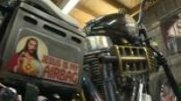 Illustrations d'une concession de Harley Davidson