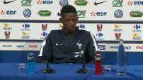 Global 20118: press conference Dembélé and Varane