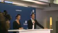 Conférence de presse au siège des Républicains