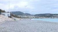 Promenade des Anglais à Nice par temps couvert