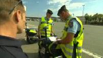 Illustrations de contrôles routiers par la gendarmerie à Nice