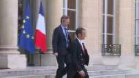 Sortie de ministres du Palais de l'Elysée