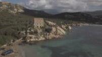 aerial postcards of Corsica