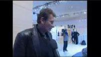 Paris Motor Show 2004: Luca Di Montezemolo, Sebastien Loeb, Johnny Hallyday