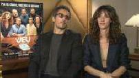 """Cinéma : interviews acteurs du fim """"Le jeu"""""""