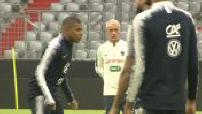 Entrainement de l'Equipe de France avant Allemagne/France