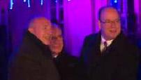 La fête des Lumières de Lyon : inauguration par Gérard Collomb, Bernard Cazeneuve et SAS Albert II de Monaco ; mesures de sécurité