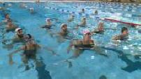 Mixed synchronized swimming training