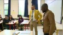 Bac français : Kerry James vient encourager des élèves de Première