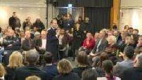 Emmanuel Macron comes to a public debate in Bourg-de-Peage