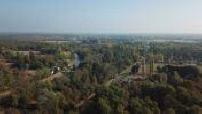 Vue aérienne par drone de la campagne du Loiret