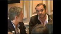 """Conférence de presse et interview de De Caunes et Demaison pour """"Coluche, l'histoire d'un mec"""""""