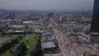 Vue aérienne par drone de Kuala Lumpur
