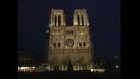 ill. nouvel éclairage cathédrale Notre Dame de Paris.