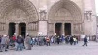 Chapelle ardente en l'honneur du cardinal Lustiger à Notre-Dame de Paris