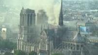 Vidéo amateur exclusive incendie Notre-Dame