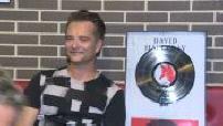 David Hallyday receives a platinum record