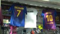 Arrivée de Griezmann à Barcelone : Illustrations maillots de foot