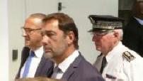 Arrivée de Christophe Castaner à Biarritz à l'occassion du sommet du G7