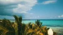 Tulum beach aerial