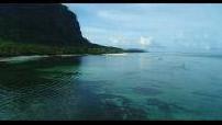 Vue aérienne des côtes de l'Ile Maurice 2