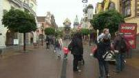 Europa Park streets on a rainy day