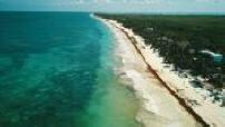 Tulum beach aerial 2