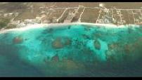 Saint Martin island aerial