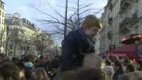 Republican March: impressions and atmosphere Place de la République