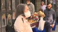 Coronavirus: street scenes in Paris