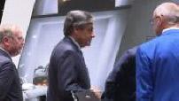 Paris Motor Show : Emmanuel Macron and François Fillon visiting the show